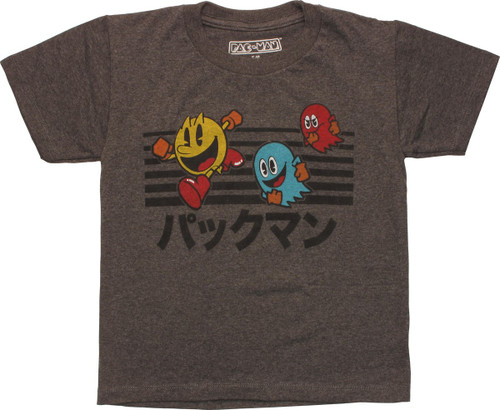 Pacman Chase Japanese Katakana Juvenile T-Shirt