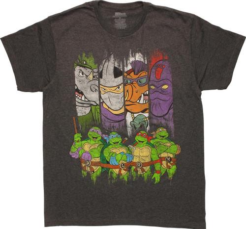 Ninja Turtles Villains and Heroes T-Shirt