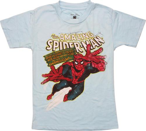Amazing Spiderman Story Distress Juvenile T-Shirt