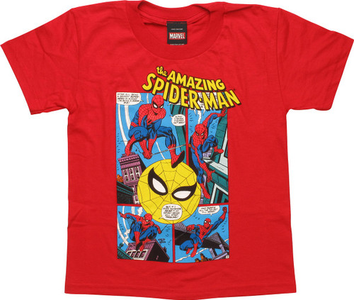 Amazing Spiderman Figured Out Red Juvenile T-Shirt