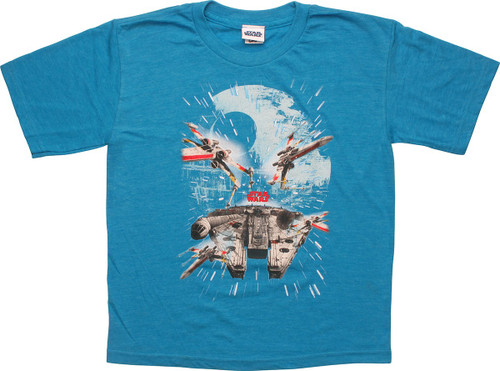 Star Wars Death Star and Ships Youth T-Shirt