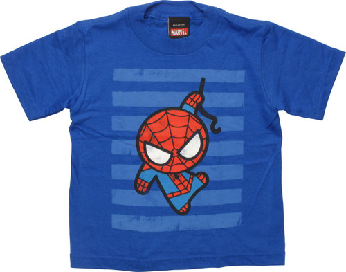 Spiderman Toy Striped Blue Toddler T-Shirt