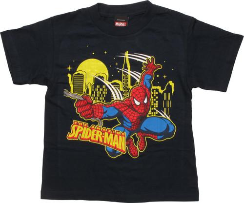 Spiderman Night Rider Juvenile T-Shirt