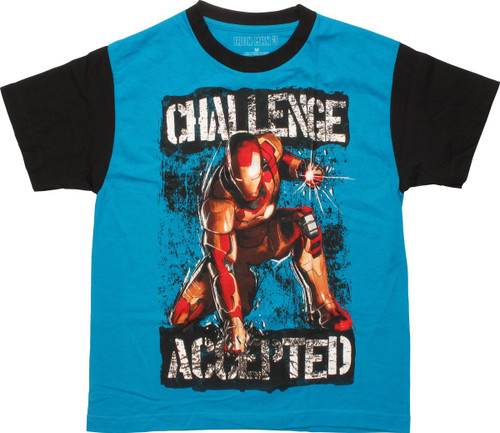 Iron Man 3 Challenge Accepted Ringer Youth T-Shirt