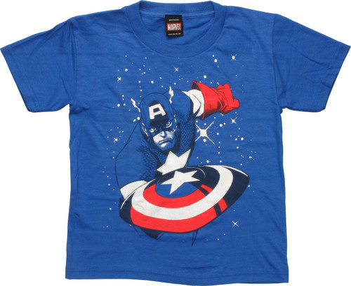 Captain America Snow Cap Juvenile T-Shirt