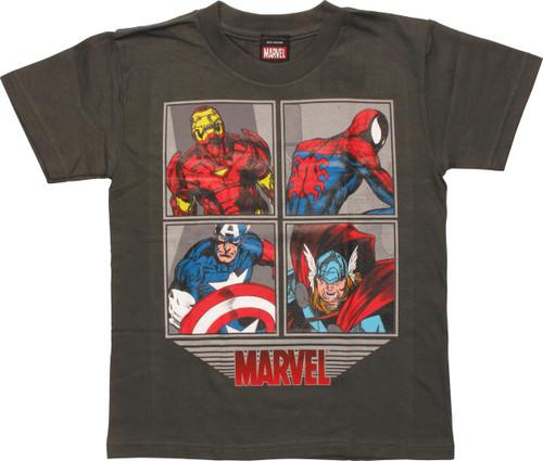 Avengers Framed Characters Juvenile T-Shirt