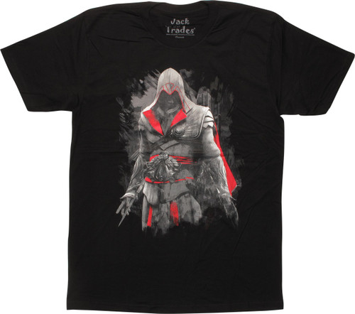 Assassins Creed Ezio Auditore Black T-Shirt Sheer