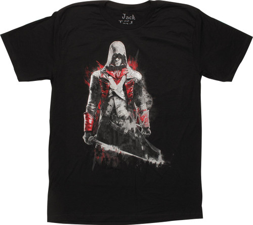 Assassins Creed Arno Dorain Black T-Shirt Sheer