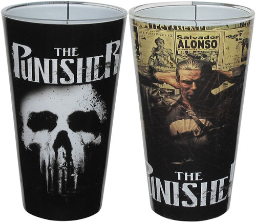 Punisher Logo and Targeted Pint Glass Set
