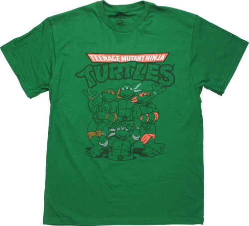 Ninja Turtles Classic Heroes Pose T-Shirt