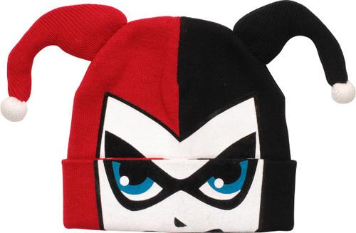 Harley Quinn Flip Down Face Cuff Beanie