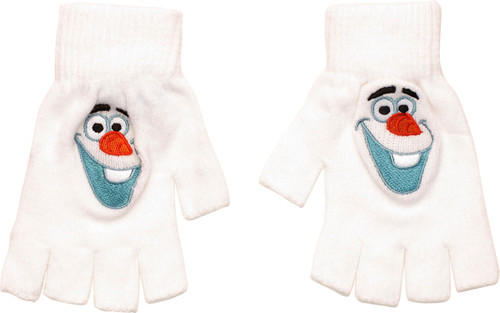 Frozen Olaf Face Fingerless Gloves