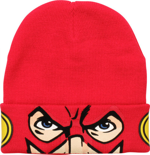 Flash Face Flocking Felt Beanie