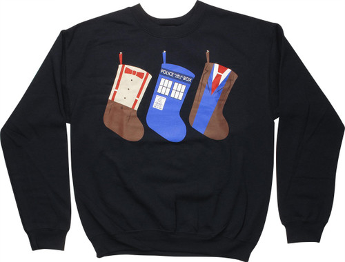 Doctor Who Christmas Stockings Sweatshirt