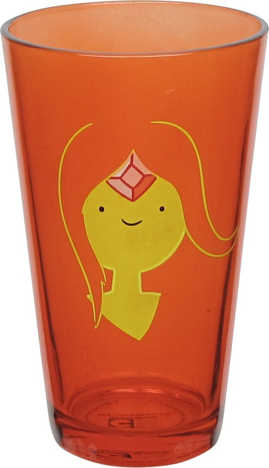 Adventure Time Flame Princess Face Pint Glass