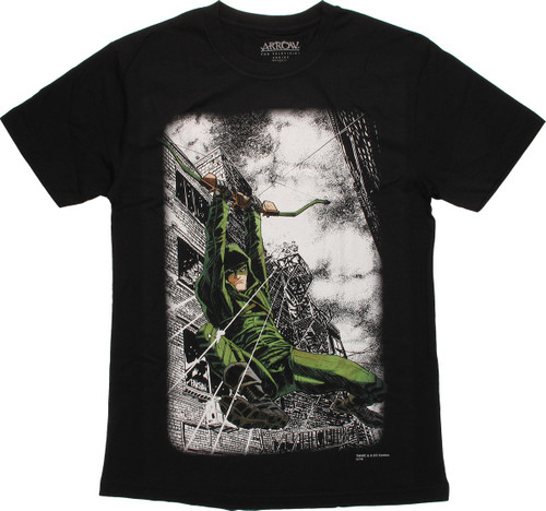 Green Arrow Zip Line Bow T-Shirt