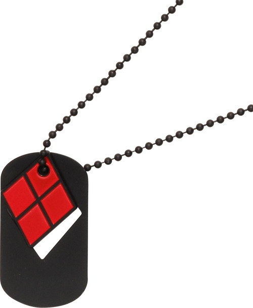 Harley Quinn Cut Out Dog Tag Necklace