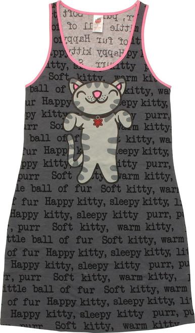 Big Bang Theory Soft Kitty Song Tank Top Dress