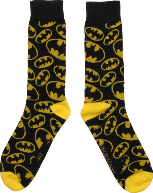 Batman Mini Logo Jumble Crew Socks