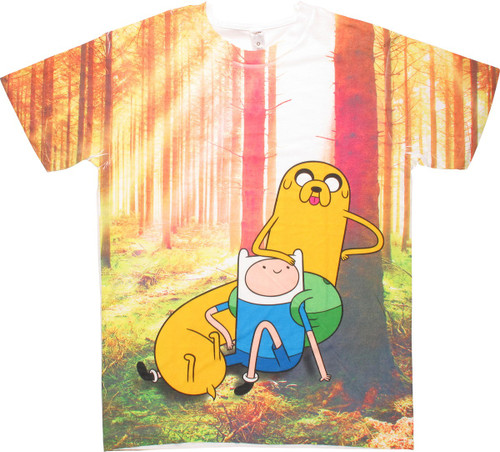 Adventure Time Duo Tree Shine Sublimation T-Shirt