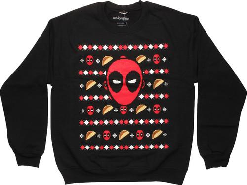 Deadpool Tacos Christmas Sweatshirt