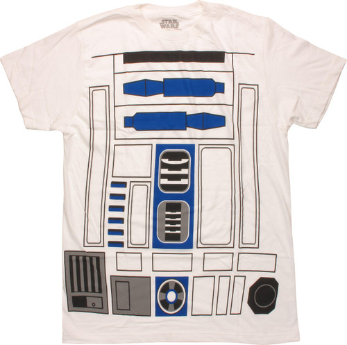 Star Wars R2-D2 Costume Mighty Fine T-Shirt Sheer