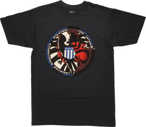 Shield Logo Hidden Hydra Mighty Fine T-Shirt Sheer
