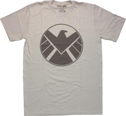 Shield Logo Silver Mighty Fine T-Shirt Sheer