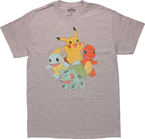 Pokemon Classic Starter Group T-Shirt