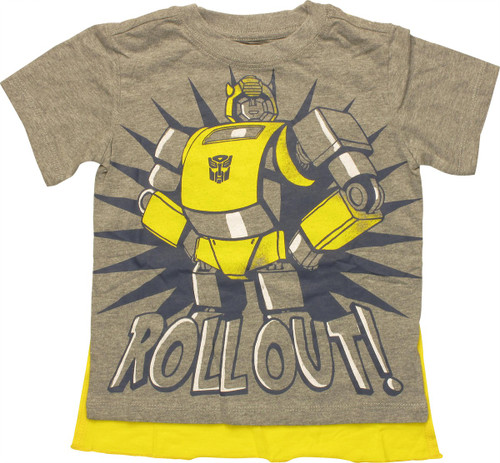 Transformers Roll Out Caped Toddler T-Shirt