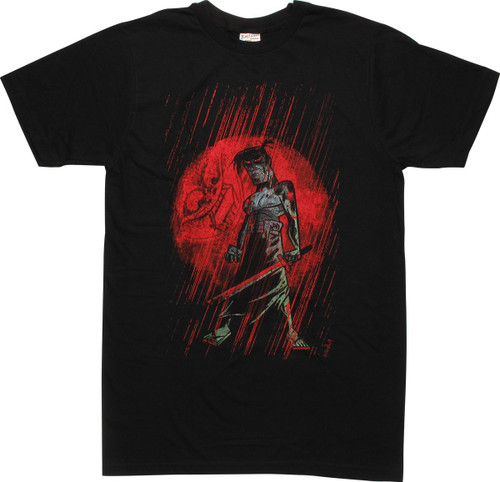 Samurai Jack Red Moon T-Shirt Sheer