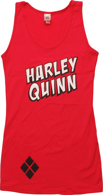 Harley Quinn Name Juniors Tunic Tank Top