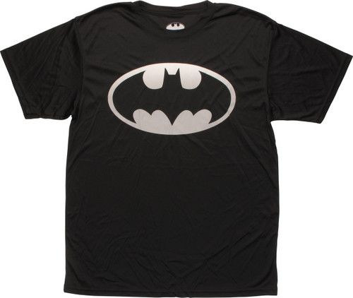 Batman Gray Classic Logo Polyester T-Shirt