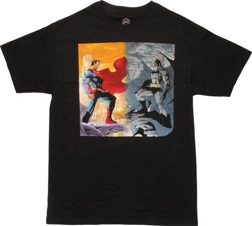 Batman Superman Jim Lee City Ledge T-Shirt