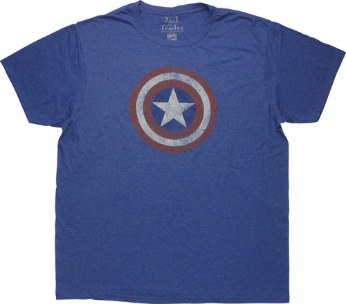 Captain America Shield Distressed T-Shirt