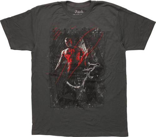 Daredevil Gargoyle City Charcoal T-Shirt