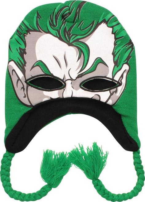 Joker Face Eye Mask Tassel Beanie