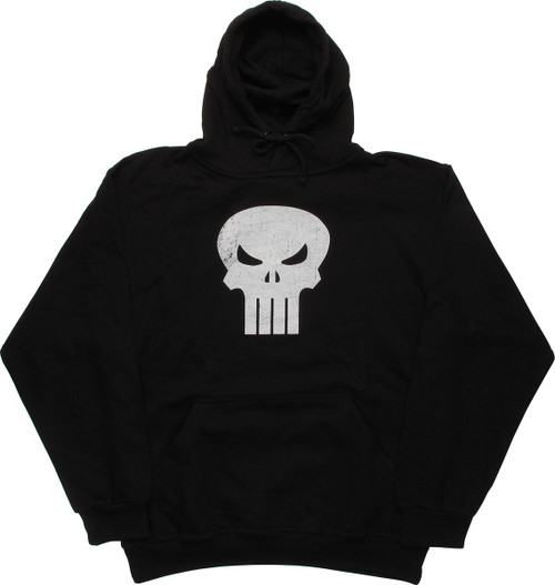 Punisher Distressed Logo Pullover Hoodie