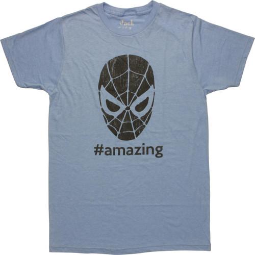 Spiderman Hashtag Amazing T-Shirt