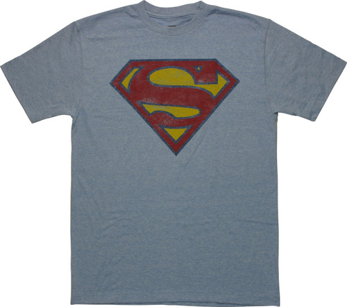 Superman Vintage Shield Heather T-Shirt