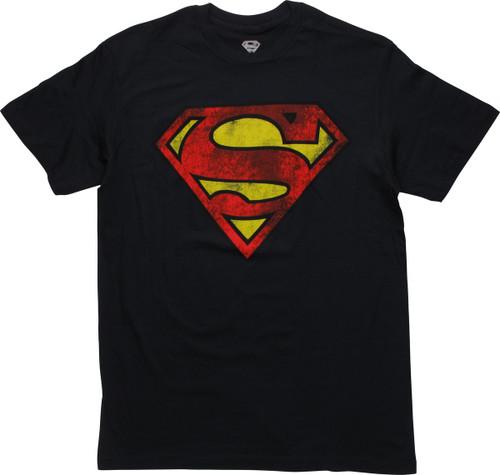 Superman Worn Shield Logo T-Shirt