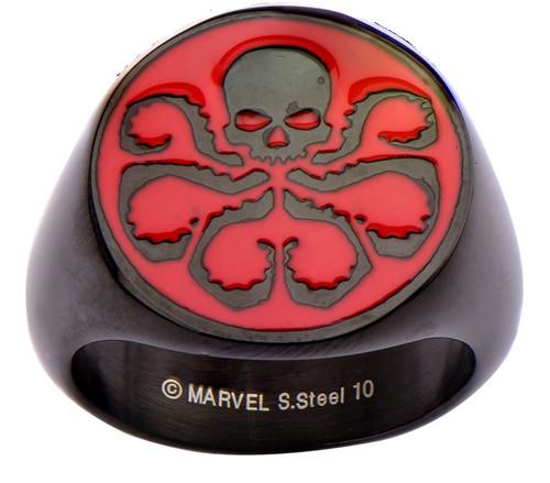 Hydra Red Logo Black Ring