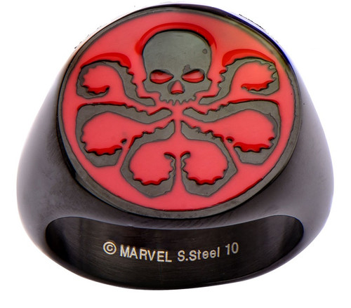 Hydra Red Logo Black Ring