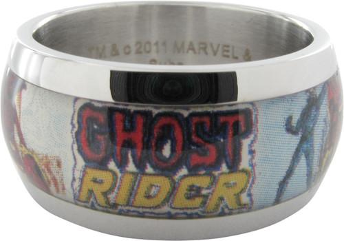 Ghost Rider Name Skull Bike Ring
