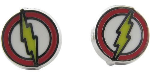 Flash Logo Enamel Stud Earrings
