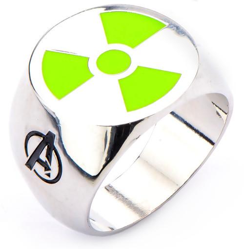 Incredible Hulk Avengers Radioactive Symbol Ring