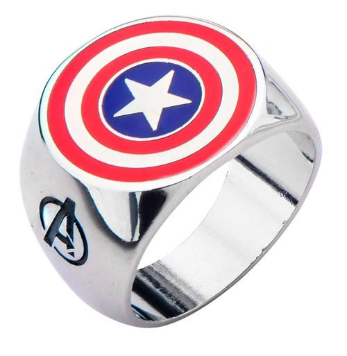 Captain America Shield Logo Avengers Assemble Ring
