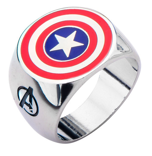 Captain America Shield Logo Avengers Assemble Ring