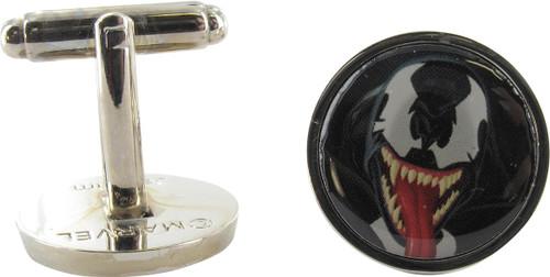 Venom Face Round Cufflinks