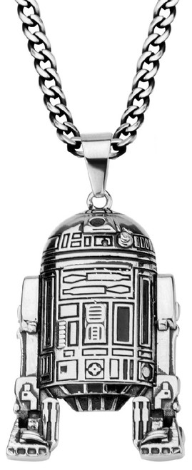 Star Wars R2-D2 Droid Pewter Necklace